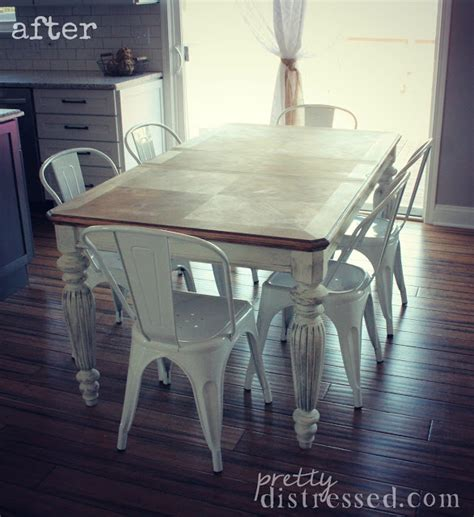 farm table with metal chairs pretty distressed the making of a farmhouse table