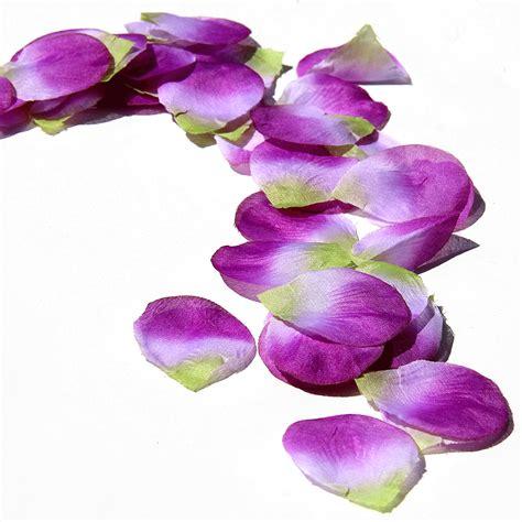 purple flower petals purple wedding decorations cheap