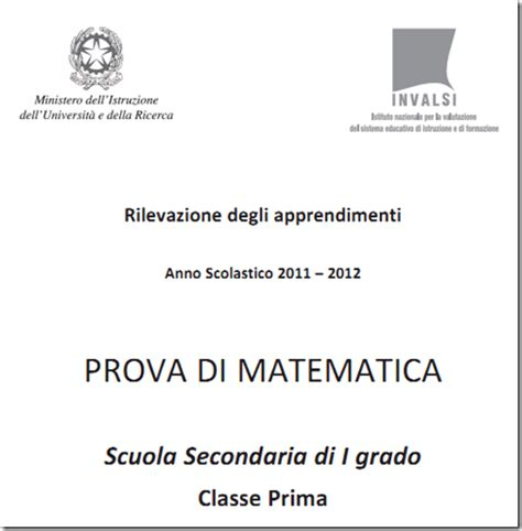 Prove Ingresso Matematica Prima Media Soluzioni Guidate Prove Invalsi Matematica Prima Media