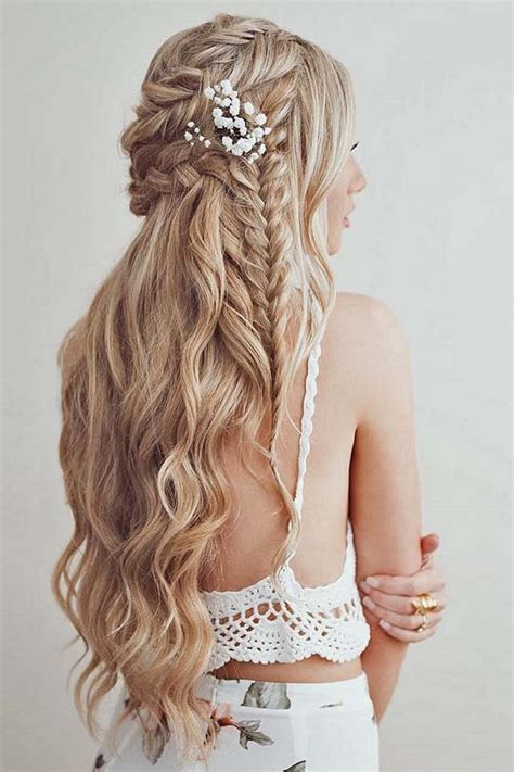 38 gorgeous half up half down wedding hairstyles wedding