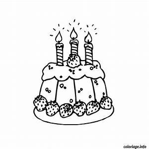 Dessin Gateau Anniversaire : coloriage gateau anniversaire 3 ans dessin ~ Melissatoandfro.com Idées de Décoration