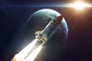 Rakete, Space, Shuttle, Weltraum, Erde, Bild, Xxl, Poster, Foto