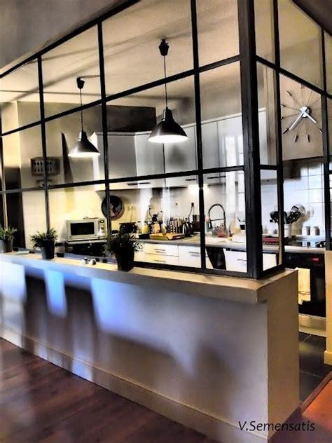 separation cuisine style atelier déco cuisine style atelier separation avec le salon
