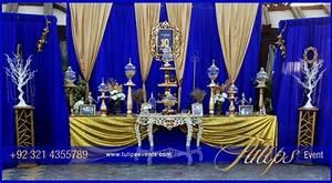 Wedding Decoration Blue And Gold Gallery - Wedding Dress
