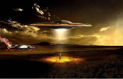Ufo Alien Invasion Cgi Digital Apoclyptic Manipulation