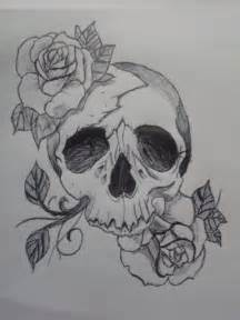 Skull Rose Tattoo Sketches and Drawings