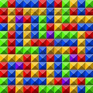 Matratzenbezug Farbig Muster : pyramid fliesen muster farbige vektorgrafik ~ Eleganceandgraceweddings.com Haus und Dekorationen