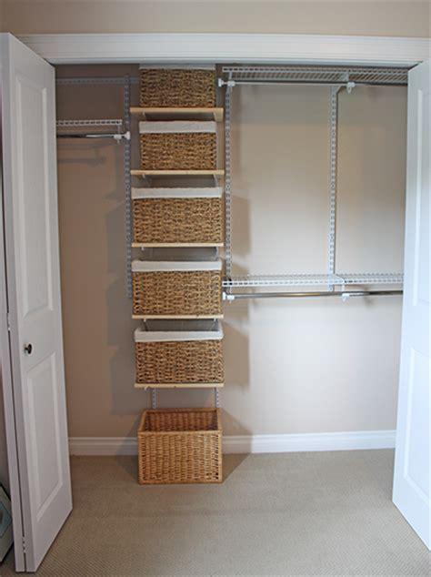 Closet Organizer Baskets by Loving Your Rental Vancouver Island Edition Markova Design