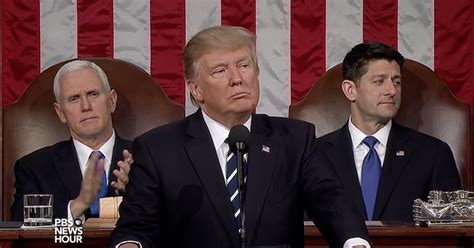 trump believe america presidential genuinely exhaustive congress urges speech hits points again
