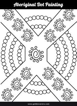 dot painting templates aboriginal dot painting template 2