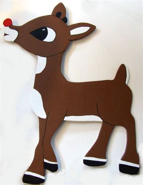 christmas yard art decoration rudolph red nose reindeer