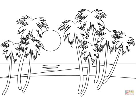 Kleurplaat Go Water by Tropical Coloring Page Free Printable Coloring Pages