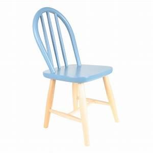 Chaise Bois Enfant : chaise enfant filou bleu paradis rose in april pour chambre enfant les enfants du design ~ Teatrodelosmanantiales.com Idées de Décoration