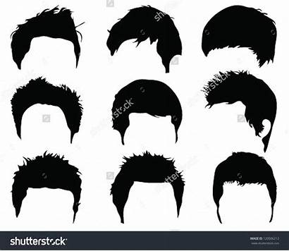 Hair Clipart Vector Silhouettes Styling Clip Silhouette