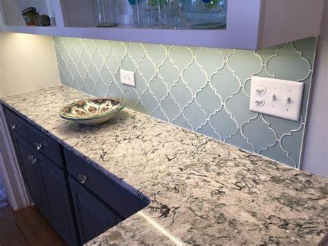 finishing kitchen cabinets ideas jasper blue gray arabesque glass mosaic tiles rocky