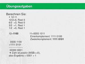 Zweierkomplement Berechnen : bit i wise 2014 basisinformationstechnologie i 03 grundlagen iii ~ Themetempest.com Abrechnung