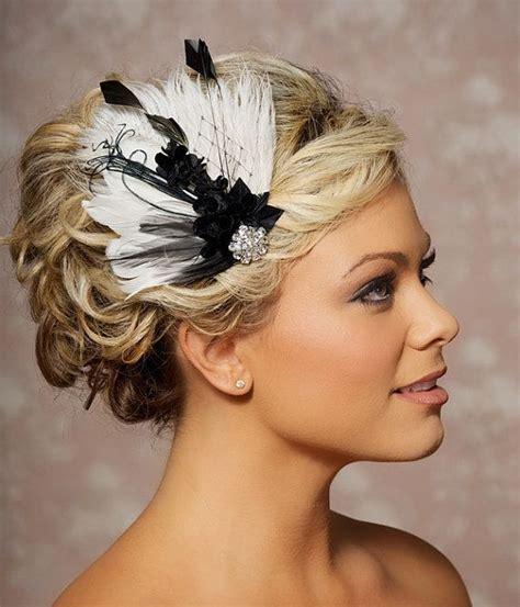 bridal hair style picture bridal fascinator black and ivory wedding bridal hair 8418