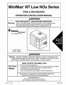 Pentair Minimax 250 User Manual