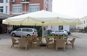 store banne independant sur pied fixe au sol sans With grand parasol de terrasse