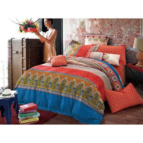 comforter bed sets king features a geometric and floral pattern in color and