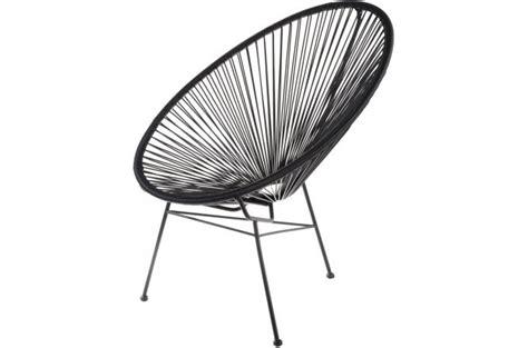chaise acapulco pas cher fauteuil la chaise longue noir acapulco fauteuil design