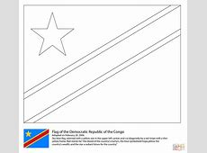 Flag of The Democratic Republic of The Congo coloring page