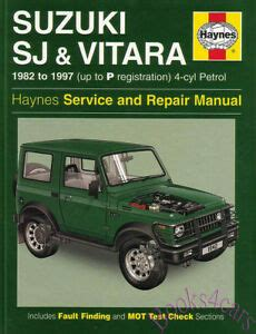 free service manuals online 1987 suzuki sj auto manual suzuki sj samurai shop manual service repair book sj410 sj413 vitara haynes jeep ebay