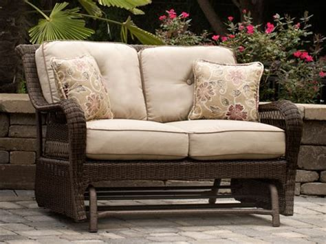 Loveseat Glider Outdoor by Pinehurst Patio Loveseat Glider 742 99 Patio Furniture