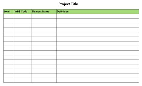 wbs template how to create a work breakdown structure lucidchart