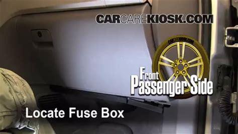 interior fuse box location   chevrolet traverse