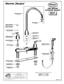 american standard kitchen faucets parts american standard indoor furnishings 4271 user 39 s guide manualsonline