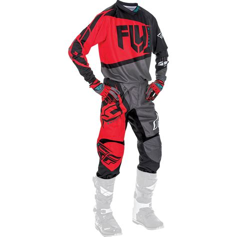 motocross gear fly racing 2017 mx new f 16 red black grey jersey gloves
