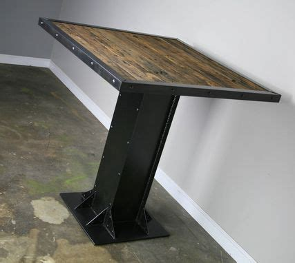 Buy a Hand Made Bistro/Dining Table, Modern Industrial