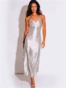 formal wedding dresses light silver metallic formal evening dress modishonline