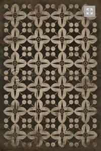 black alma vinyl floor cloth cottage home
