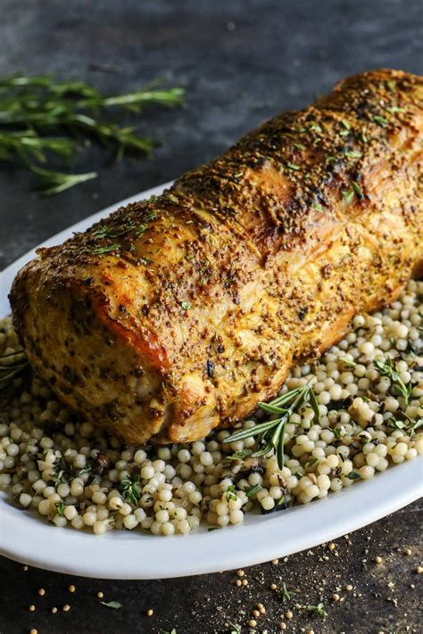 Many recipes for pork loin or pork tenderloin will tell you to brine them, so the meat will be more tender and juicy. Mustard Pork Loin Roast | Recipe | Pork loin roast recipes, Pork loin recipes, Pork tenderloin ...