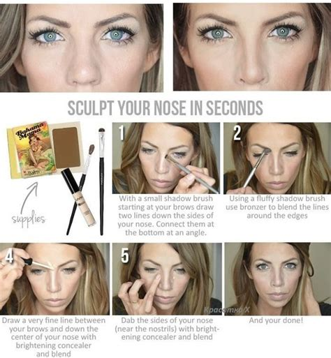 nose thinning makeup tutorial    fat nose  thinner