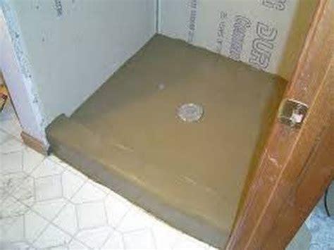 install shower pan  float floor mud bed part