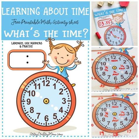 Learning About Time  What's The Time Clock Free Printable