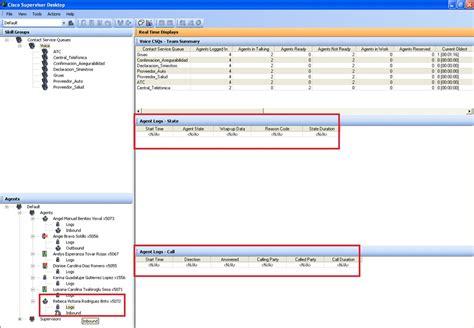 cisco desktop supervisor agent uccx call logs csd october2012 state center support contact