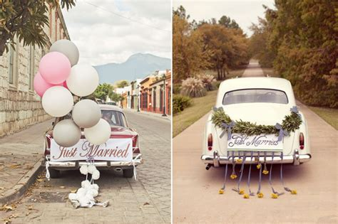 attention grabbing wedding car decoration ideas