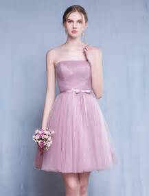 ruffle bridesmaid dress bridesmaid dresses 2016 strapless ruffle pink tulle dress