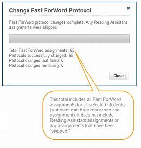 Change The Fast Forword Protocol For A Group