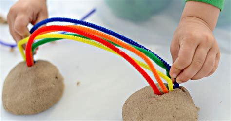 kinetic sand rainbow building motor fridays and 876 | kinetic sand rainbow building activity for toddlers preschool 4