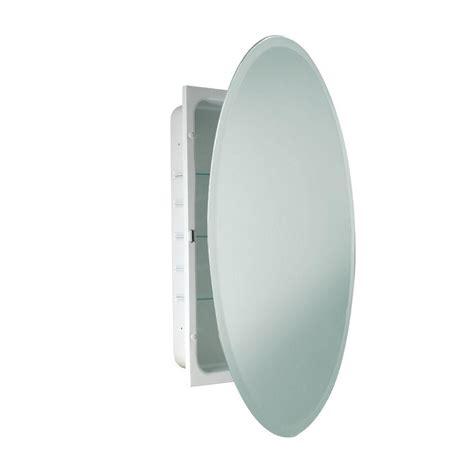 deco mirror 24 in x 36 in recessed beveled oval medicine