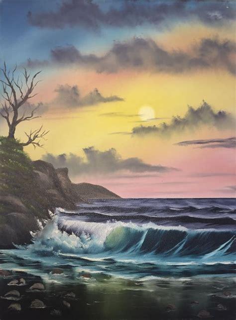 land water  sky everett boyer bob ross style