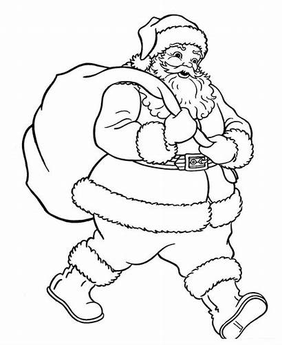 Santa Coloring Claus Pages Printable Clause Christmas