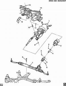 2004 2011 Cadillac Sts Srx Steering Shaft Gear Lower Shaft