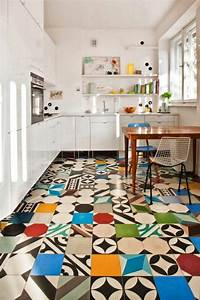 patchwork tiles mix and match your favorite colors for a With kitchen colors with white cabinets with papier peint vinyl