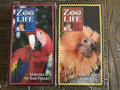 ZOO LIFE with Jack Hanna (1994) NEW SEALED VHS-Rain Forest ...